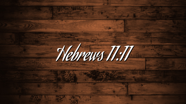 Hebrews 11:11