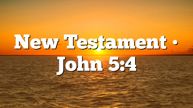 New Testament • John 5:4