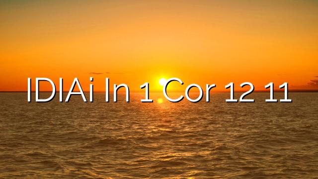 IDIAi In 1 Cor 12 11