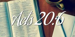 Acts 20:6