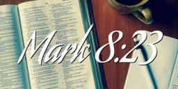 Mark 8:23
